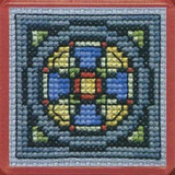 Textile Heritage | Counted Cross Stitch Magnet Kit | Stained Glass Window