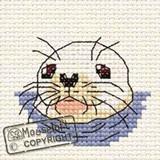 Mouseloft Mini Cross Stitch Kits | By the Seaside Series | Baby Seal - Main Image