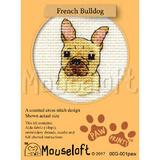 Mouseloft Mini Cross Stitch Kits | Paw Prints | French Bulldog