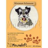Mouseloft Mini Cross Stitch Kits | Paw Prints | Miniature Schnauzer