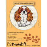 Mouseloft Mini Cross Stitch Kits | Paw Prints | Cavalier King Charles Spaniel