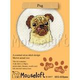 Mouseloft Mini Cross Stitch Kits | Paw Prints | Pug