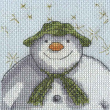 DMC The Snowman & The Snowdog Cross Stitch Kits | Stars - Main Image