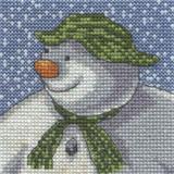 DMC The Snowman & The Snowdog Cross Stitch Kits | Its Snowing - Main Image