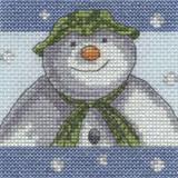 DMC | The Snowman & The Snowdog Cross Stitch Kits | Snowflakes - Main Image