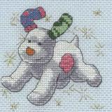 DMC | The Snowman & The Snowdog Cross Stitch Kits | Stars with Dog - Main Image