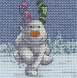 DMC   The Snowman & The Snowdog Cross Stitch Kits   Fir Trees with Snowdog - Main Image