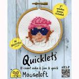 Mouseloft Mini Cross Stitch Kits   Quicklets   Beanie