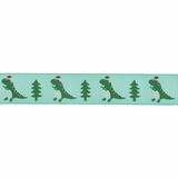Christmas Dinosaurs | Grosgrain Ribbon | 15mm | Trimits