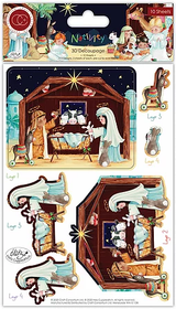 3D Decoupage Set | Nativity | Helz Cuppleditch | Craft Consortium