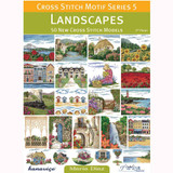 Cross Stitch Motif Series 5, Landscapes Book | 50 New Cross Stitch Models by Maria Diaz - Main Image