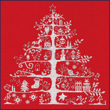 DMC | Counted Cross Stitch Kit | Christmas Trees Red