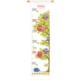 Vervaco | Height Chart Counted Cross Stitch Kit | Owls