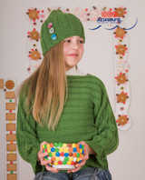 Aprica Jumper & Hat Set Knitting Patterns | Adriafil Mirage DK Knitting Yarn | Free Downloadable Pattern - Main Image