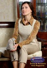 Cervinia Outfit - Handbag & Vest Knitting Pattern | Adriafil Mirage DK & Odeon Lame Yarn | Free Downloadable Pattern - Main Image