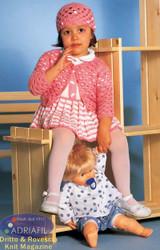 Giorgia Set - Dress, Jumper, Hat & Booties Pattern   Adriafil Mirage & Regina DK Knitting Yarn   Free Downloadable Pattern - Main Image
