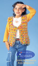 Betty Gilet Knitting Pattern | Adriafil Mirage DK & Stars Knitting Yarn | Free Downloadable Pattern - Main Image