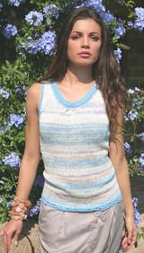 Brietta Vest Knitting Pattern | Adriafil Nature and Fiore Aran Knitting Yarn | Free Downloadable Pattern - Main Image