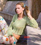 Azzorre Ladies Pullover / Jumper Knitting Pattern | Adriafil Nature Aran Knitting Yarn | Free Downloadable Pattern - Main Image