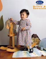 Baby's Dress Knitting Pattern | Adriafil New Zealand Print Aran Knitting Yarn | Free Downloadable Pattern - Main Image