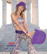 Cozumel Twin Set, Hat & Bag Knitting Pattern | Adriafil Rafia Aran Knitting Yarn | Free Downloadable Pattern - Main Image