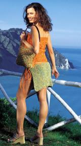 Haway Set, Ladies Top, Skirt / Pareo & Bag Knitting Pattern   Adriafil Rafia & Ibiza Yarn   Free Downloadable Pattern - Main Image