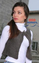 Demetra Waistcoat Ladies Knitting Pattern | Adriafil Nina Chunky Knitting Yarn | Free Downloadable Pattern - Main Image