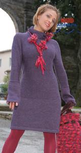 Diana Outfit, Dress, Legwarmers, Bag & Necklace Knitting Pattern | Adriafil Sierra Andina & Baba Knitting Yarns | Free Downloadable Knitting Pattern - Main Image