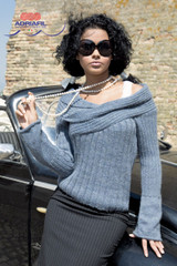 Aldebaran Ladies Jumper Knitting Pattern | Adriafil Sierra Andina DK Knitting Yarn | Free Downloadable Knitting Pattern - Main Image