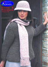 Liberty Hand & Scarf Knitting Pattern | Adriafil Candy Super Chunky Knitting Yarn | Free Downloadable Pattern - Main Image