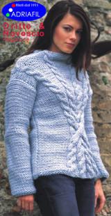 Matrix Jumper / Pullover Knitting Pattern   Adriafil Candy Super Chunky Knitting Yarn   Free Downloadable Pattern - Main Image