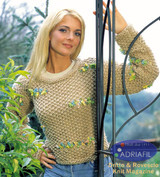 Fly Ladys Jumper / Pullover Knitting Pattern | Adriafil Candy & Tulip Super Chunky Knitting Yarn | Free Downloadable Pattern - Main Image