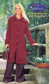 Ribes Womens Coat Knitting Pattern   Adriafil Candy Super Chunky Knitting Yarn   Free Downloadable Pattern - Main Image