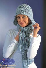 Lulu Outfit - Hat & Scarf Knitting Pattern | Adriafil Candy Super Chunky Knitting Yarn | Free Downloadable Pattern - Main Image