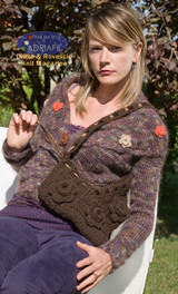 Monet Bag Knitting Pattern   Adriafil Candy Super Chunky Knitting Yarn   Free Downloadable Pattern - Main Image