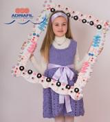 Moena Childs Dress Knitting Pattern   Adriafil Candy Super Chunky Knitting Yarn   Free Downloadable Pattern - Main Image