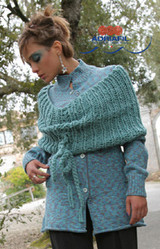 Ebe Outfit - Shrug & Cardigan Knitting Pattern | Adriafil Candy & New Zealand Print Knitting Yarn | Free Downloadable Pattern - Main Image