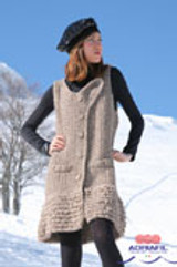 Curiosa Ladies Dress Knitting Pattern | Adriafil Candy Super Chunky Knitting Yarn | Free Downloadable Pattern - Main Image