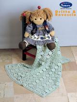Flower Baby Blankets (Knit & Crochet) | Adriafil Dolcezza Baby 3Ply Knitting Yarn | Free Downloadable Pattern - Main Image