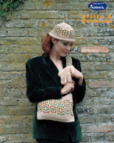 Hat with Squares, Gloves & America Bag   Adriafil Azzurra 4PlyKnitting Yarn   Free Downloadable Pattern - Main Image