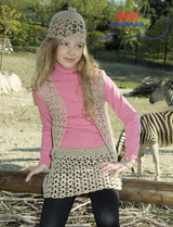 Columbia Twin Set, Waistcoat, Skirt & Hat Crochet Pattern   Adriafil Azzurra 4Ply Knitting Yarn   Free Downloadable Pattern - Main Image