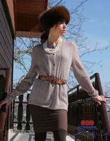 Grazia Womans Cardigan Pattern | Adriafil Kid Mohair 3Ply/4Ply Knitting Yarn | Free Downloadable Pattern - Main Image