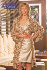 Lucilla Ladies Coat Knitting Pattern | Adriafil Kid Mohair & Explosion Yarn | Free Downloadable Pattern - Main Image