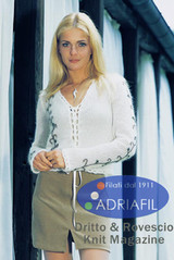 Edna Ladies Jacket Pattern | Adriafil Kid Mohair 3Ply/4Ply Knitting Yarn | Free Downloadable Pattern - Main Image