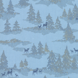 Forest Frost Glitter | Moda Fabrics | 33522-14MG | Deer Forest Icicle