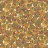 Arboretum Metallic | Moda Fabrics | 33532-11M | Leaves Cream