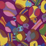 Kaffe Fassett Free Spirit 2017 Fabric Collection | PWBM063-PURPL Round Robbin Purple
