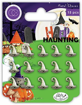 Metal Witches Hat Charms | Happy Haunting | Helz Cuppleditch | Craft Consortium