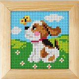 Puppy | Framed Needlepoint Kit | 11ct | Orchidea