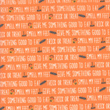 Ghouls and Goodies | Stacy Iest Hsu | Moda Fabrics | 20683-20 | Trick or Treat Text Orange